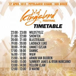 Line-up Kingsland Festival Den Bosch