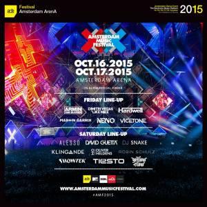 full lineup AMF2015 per dag