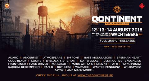Line-up The Qontinent 2016