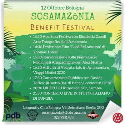 sos amazzonia benefit festival bologna