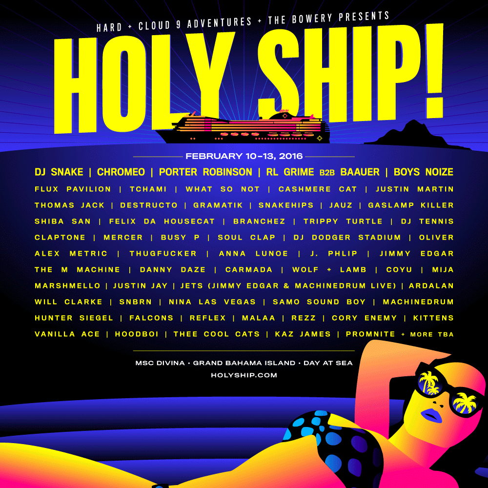 T-6 days until Holy Ship! hits the Atlantic…