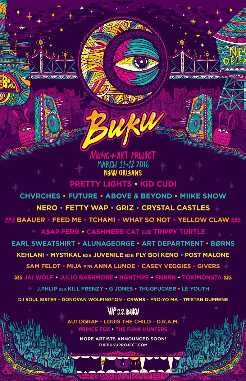 BUKU Music + Art Project Announce KILLER first round of talent for 2016 Lineup…