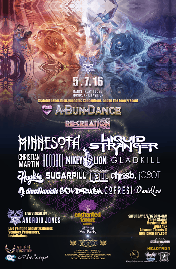 Enchanted Forest Gathering Pre-Party Touches Down in LA May 7th at ABunDance  For a New Paradigm in Nightlife — Where Art, Music and Community Become One