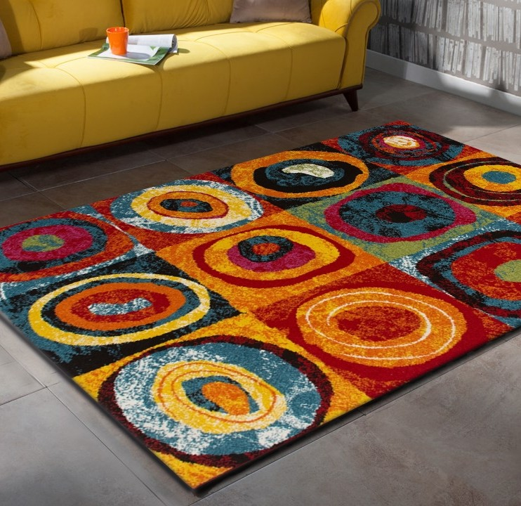 Tapis Design Pour Salon Multicolore Sweet Pas Cher