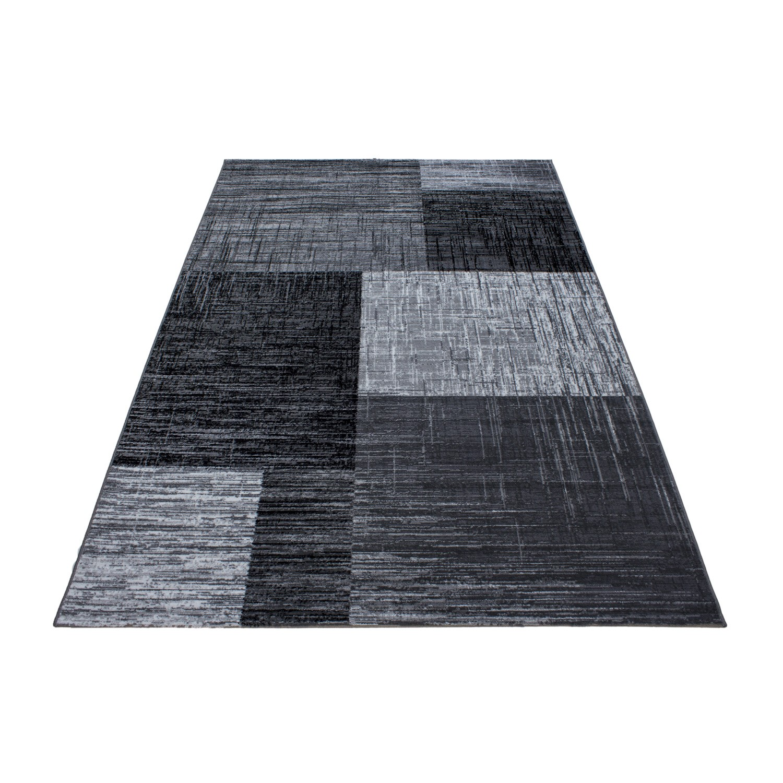 tapis contemporain argente en polypropylene markus