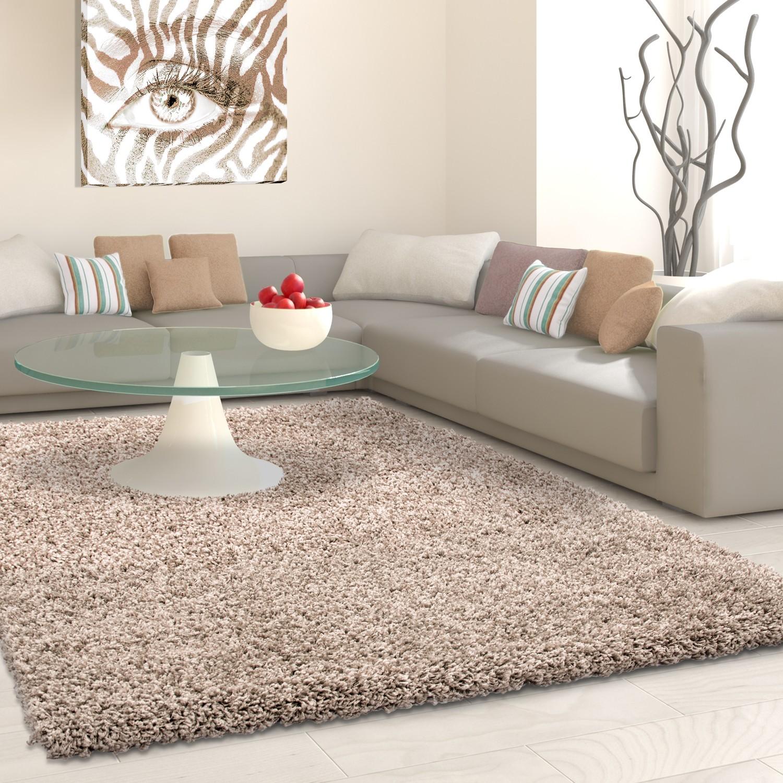 tapis shaggy beige moderne tapis design uni en polypropylene vasco