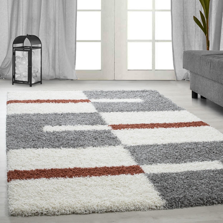 tapis design en polypropylene shaggy pas cher mida