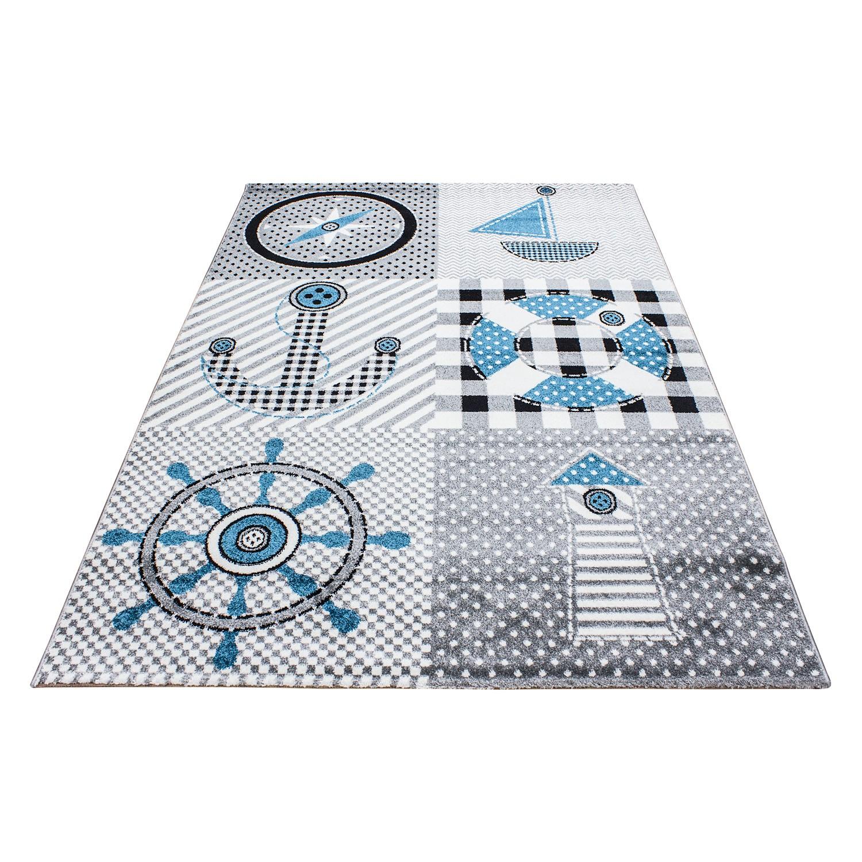 tapis pour garcon ou fille blue gris
