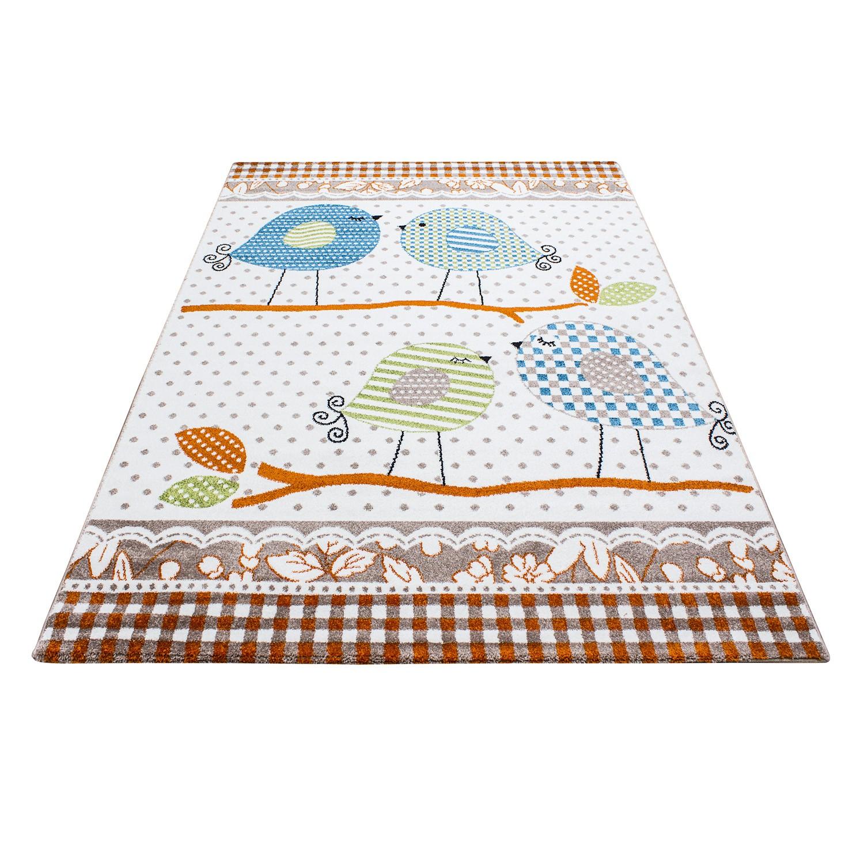 tapis pour chambre bebe fille creme et beige