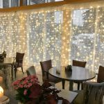 2m X 2 5m Outdoor Curtain Lights Connectable 500 Leds White Cable