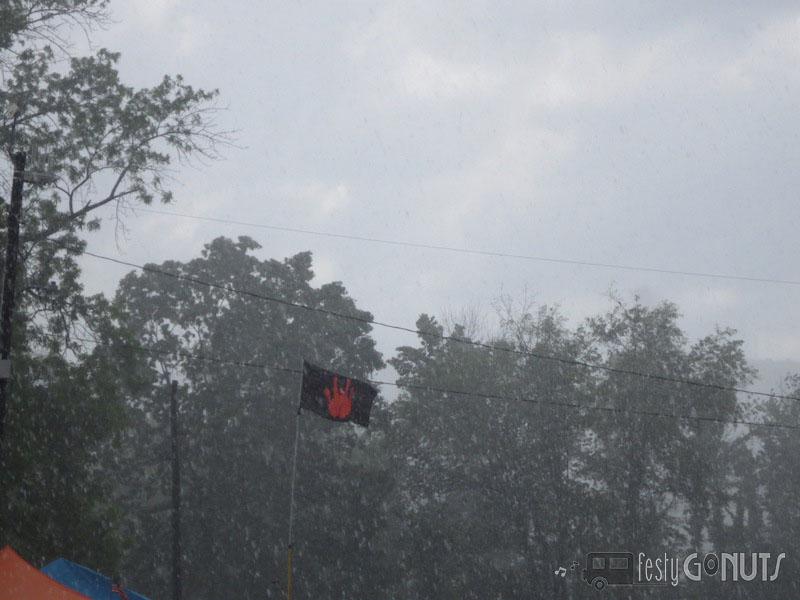 Rain at a Music Festival