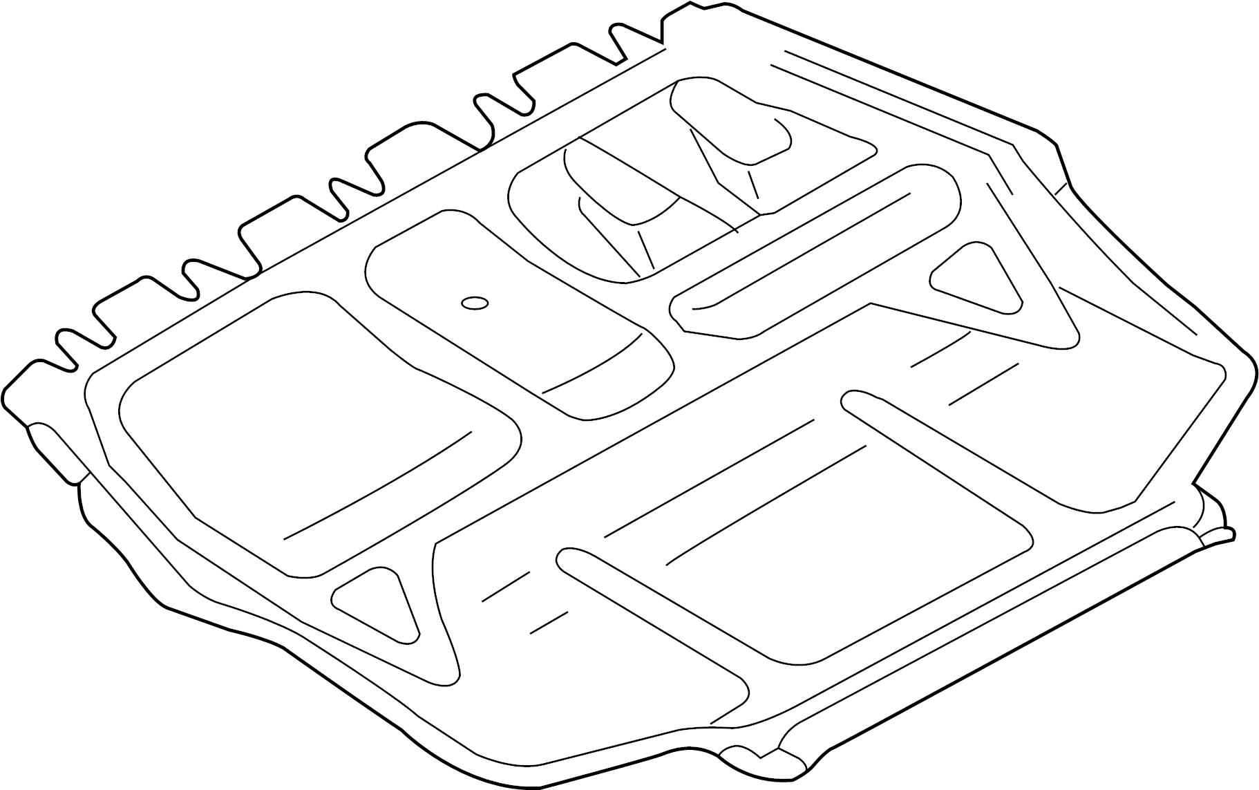 Volkswagen Rabbit Baffle Splash Shield Audi Volkswagen