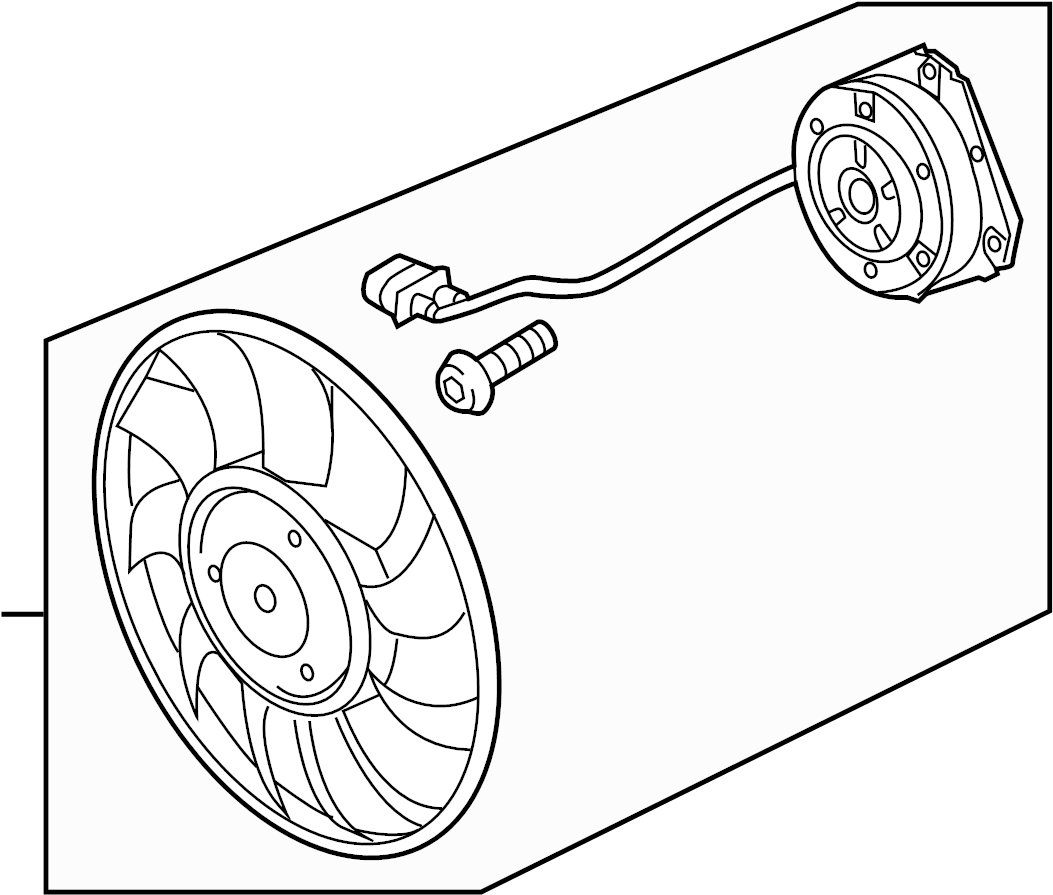Audi Q5 Fan Motor Cooling Left Liter
