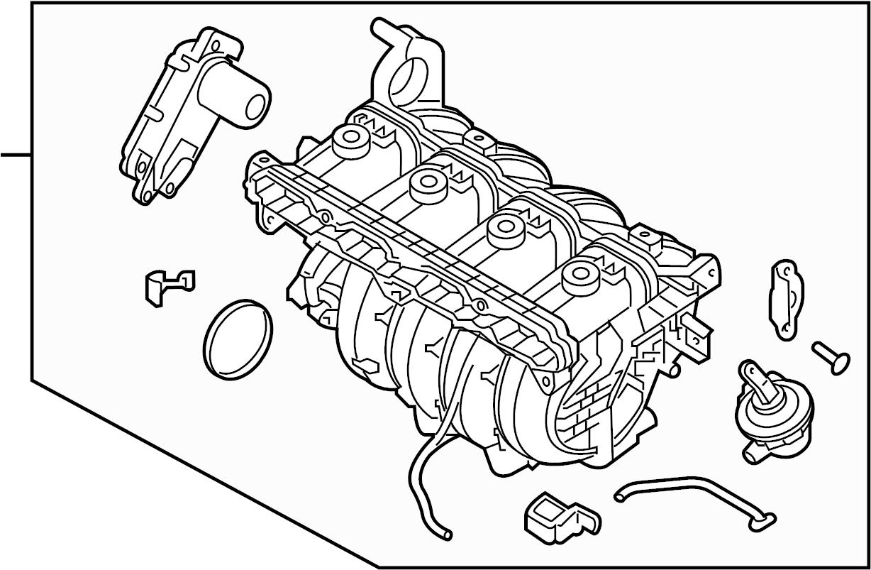 Hyundai Santa Fe Sport Engine Intake Manifold