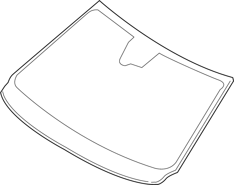 Volvo S60 Windshield Glass Rain Sensor Inscription
