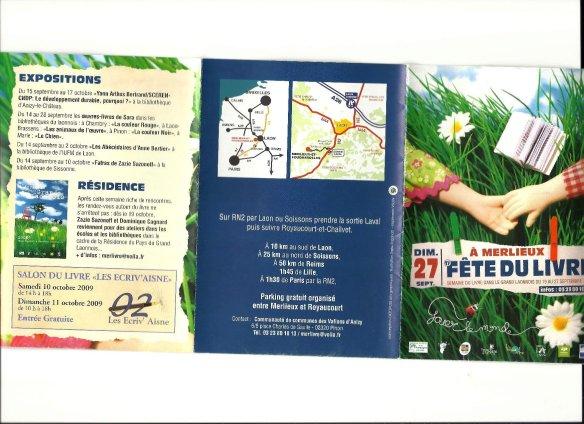 Programme Fête du Livre de Merlieux - 2009