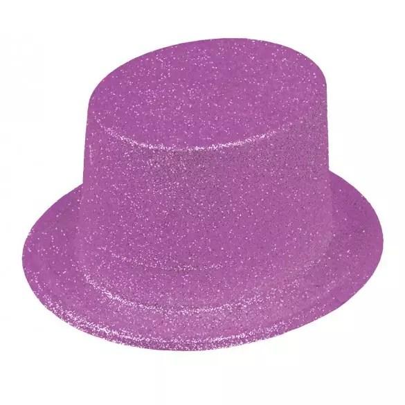 gibus paillettes violet fluo chapeau disco pas cher fete en folie