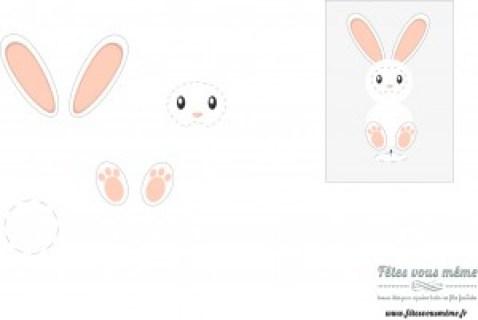 Lapin de Pâques en coton printable - Fêtes vous même