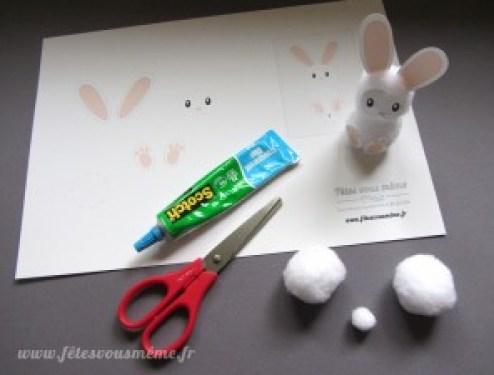 Lapin de Pâques en coton matériel - Fêtes vous même