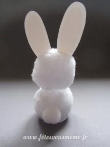 Lapin de Pâques en coton verso - Fêtes vous même