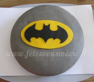 Gateau anniversaire Batman