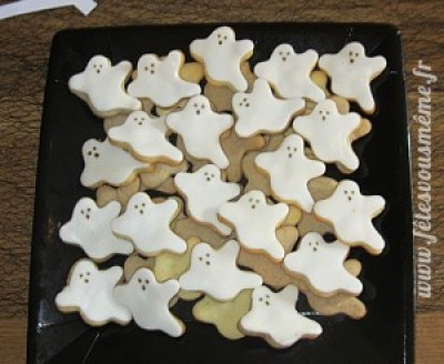 Biscuits Fantomes - Table Gourmande Halloween - Fêtes vous même