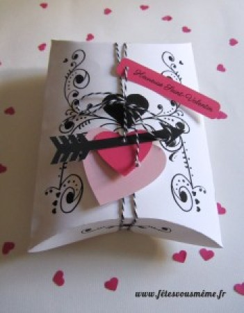 Boites cadeaux St Valentin N&B - Fêtes vous même