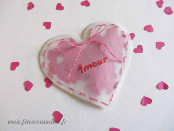 Pochette coeur à confettis 1 - Fêtes vous même