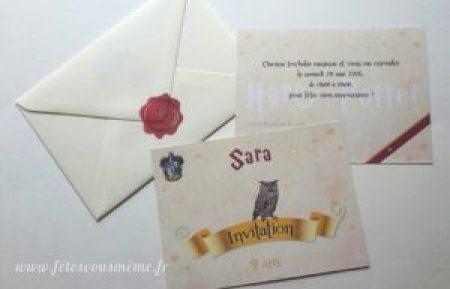 Invitation Harry Potter
