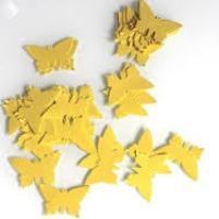 papillons jaunes déco table