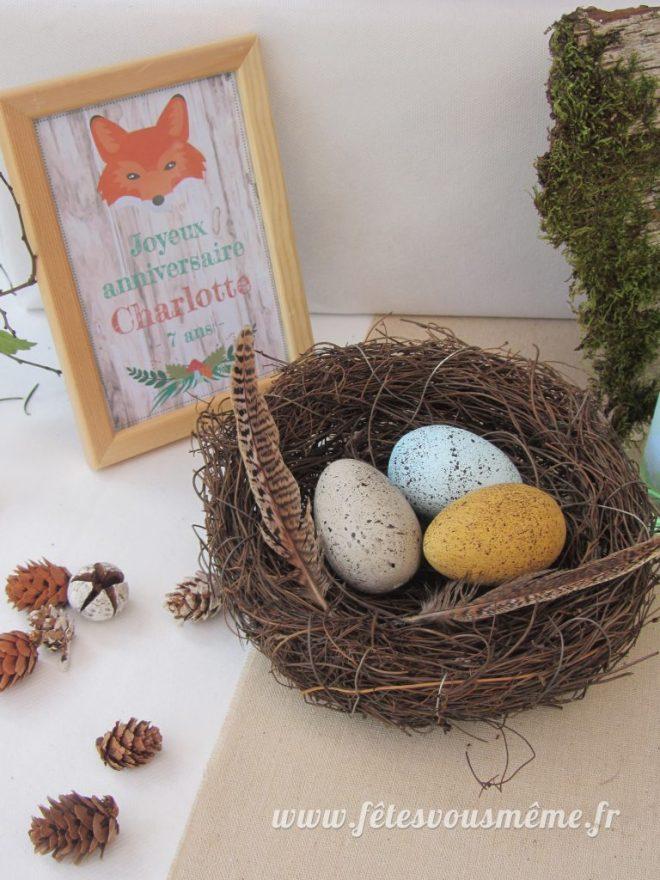 Décoration Thème forêt - nid et centre de table - Fêtes vous même