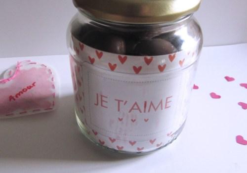 Bocal à chocolats Saint Valentin - Fêtes vous même
