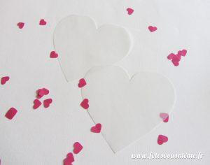 Pochette coeur à confettis - calques - Fêtes vous même