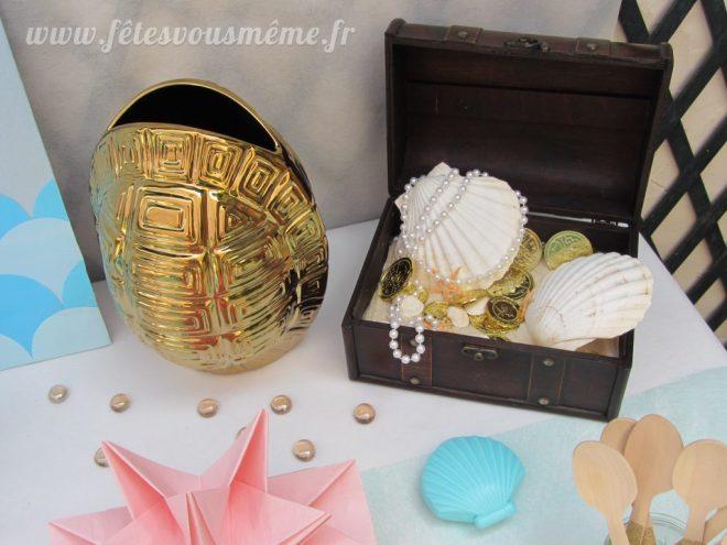 Décoration monde de la mer - coffre de bijoux - Fêtes vous même