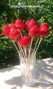 Bouquet gourmand de fraises - Fêtes vous même