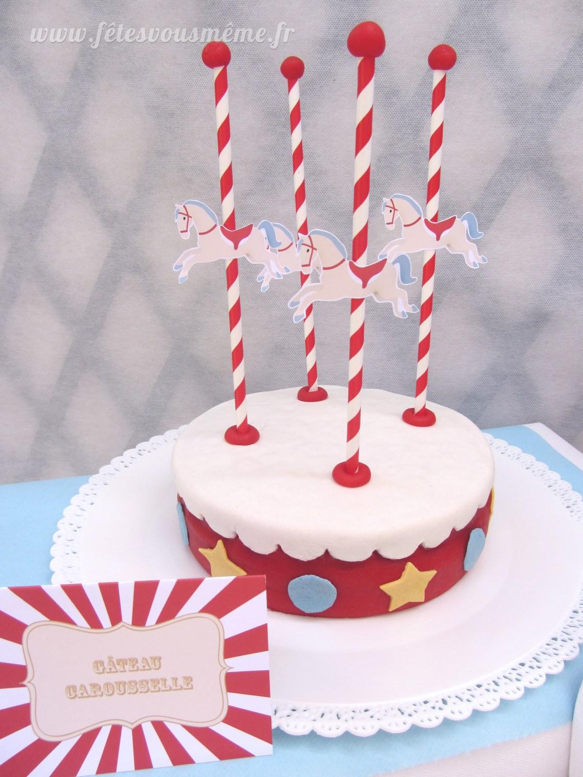 Gâteau Carrousel - Fêtes vous même