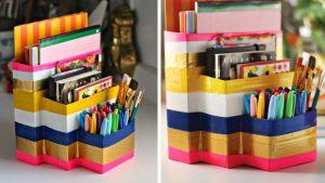 DIY de rentrée -idées recyclage de cartonnage - Fêtes vous même
