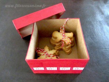Box Cadeau Sablés de Noël - Fêtes vous même