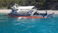 Göçmenlerin Kaçmak İstediği Tekneden Yakıt Sızıntısı Başladı