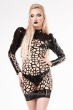 astra-organic-structure-net-puff-sleeve-latex-dress