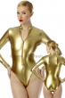 Body-with-front-zip-fastener-Stretchlack-Gold