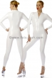 Catsuit-with-front-zip-fastener-Stretchlack-White