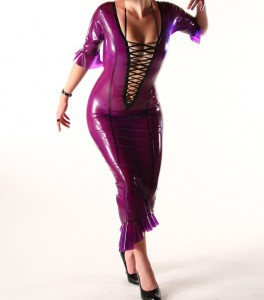 Dom-Plum: Latex Evening Gown