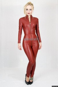 Leather Catsuit burgundy
