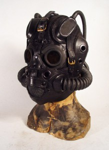 Black leather Pilot mask 5