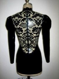 LACE PRINT latex dress 1