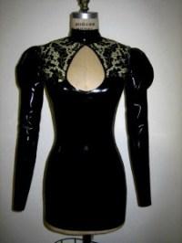 LACE PRINT latex dress 2