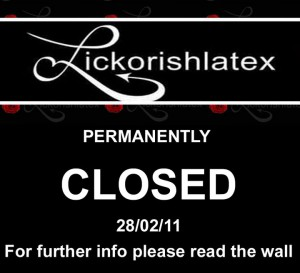 Lickorishlatex was closed