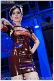 Victorian Copper Dress
