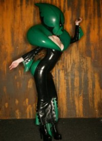 martian queen latex inflatable alien dress 1
